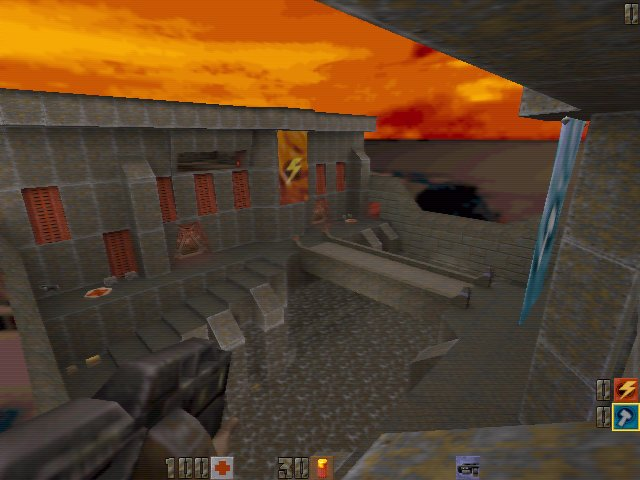Quake 2 swinging grappling hook mod